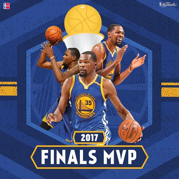 杜兰特当选2017年总决赛MVP 总决赛五场表现完美