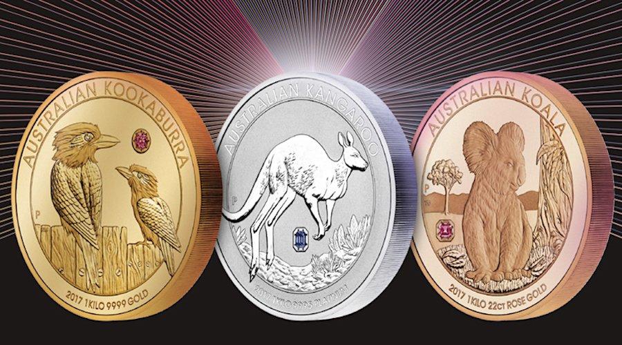 Rio Tinto矿业集团推出3枚镶嵌澳大利亚彩钻的金质纪念币
