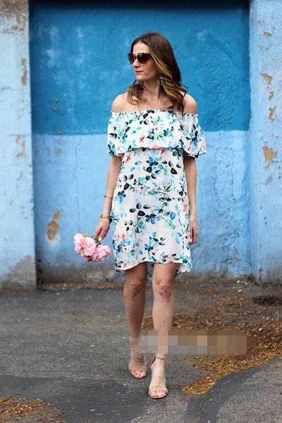夏日服装流行趋势示范 碎花裙让你满满女人味