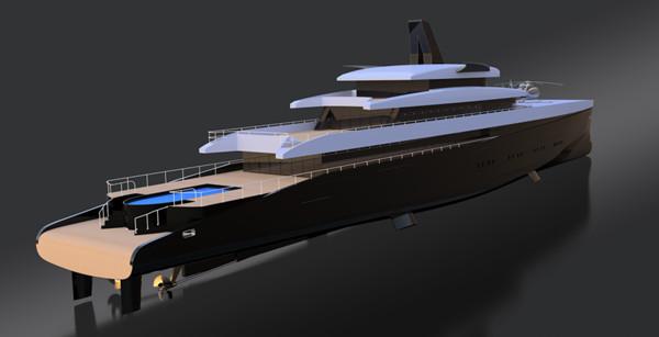 Laurent Giles推出全新110米HEMY高效动力游艇