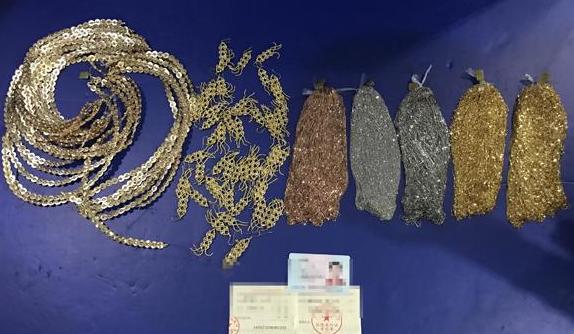 深圳海关查获人身绑藏黄金首饰走私入境案件 初估案值60万元