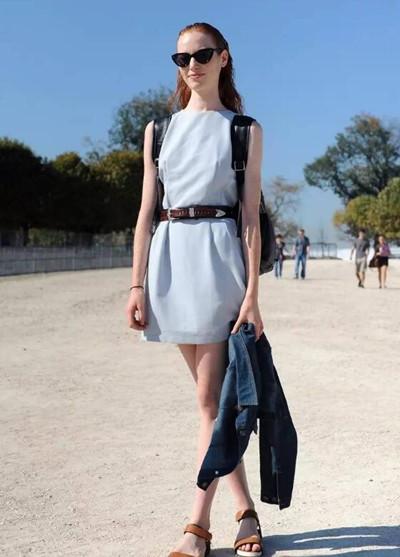 """夏天服装流行趋势示范 """"冰块蓝""""清新又充满活力感"""