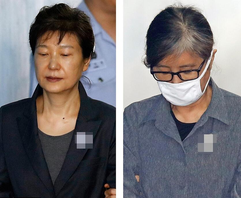 朴槿惠崔顺实再次出庭受审
