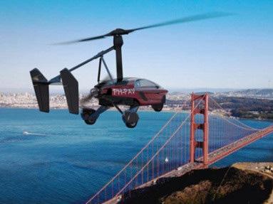 荷兰设计陆空两用飞行车 飞行高度可达3500米陆地最高时速约170公里
