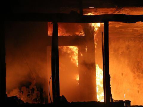湖北居民楼大火 此次火灾未造成人员伤亡