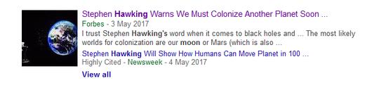 霍金警告人类不要登月 这真的是霍金说的吗?