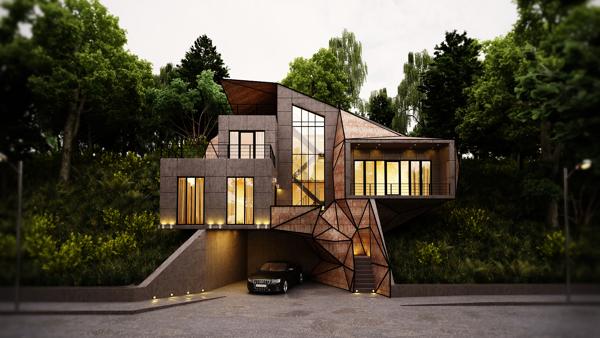 格鲁吉亚豪宅:将三角与矩形运用得出神入化