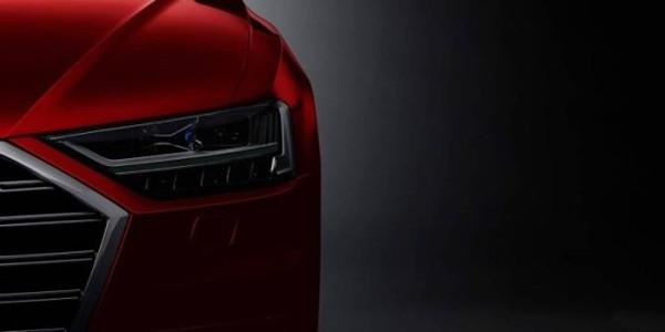 奥迪公布全新A8预告图 将搭载最新激光大灯