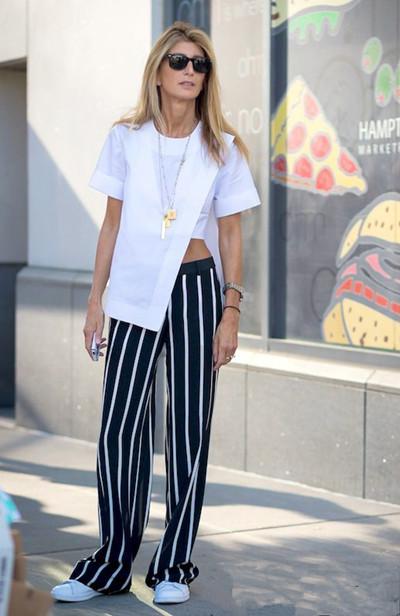夏天服装流行趋势示范 宽腿裤演绎帅气时髦姿态