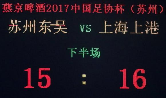 17轮点球大战! 上港胜中乙队进8强
