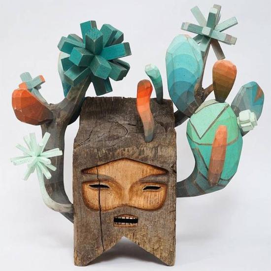 """艺术家Jaime Molina:""""神秘""""是这些木头人的个性"""
