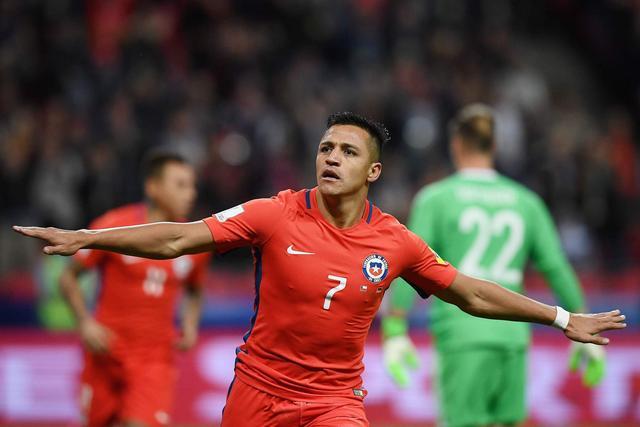 2017联合会杯B组第2轮 德国队1-1战平智利