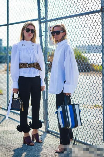 欧美潮人穿衣搭配技巧示范 宽松衬衫配这些单品才时髦