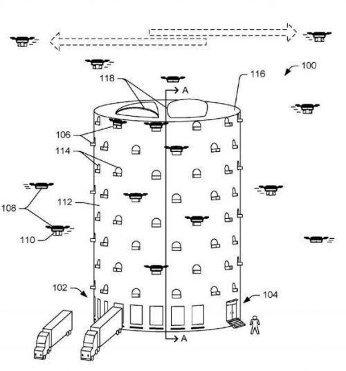 亚马逊递交无人机塔设想专利申请 加速物流运输