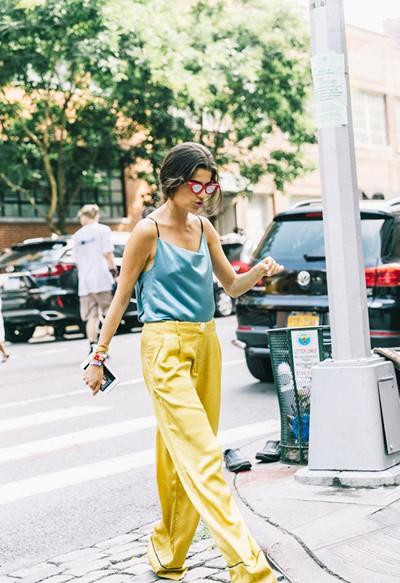欧美达人街拍造型示范 夏季极简风才是真时髦