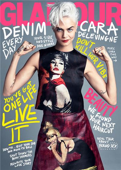 Cara Delevingne登上《Glamour》杂志2017年8月号封面