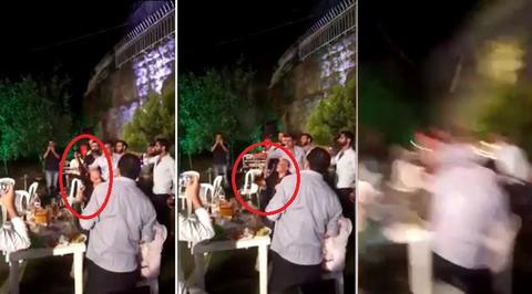黎巴嫩新郎拿AK47庆祝 扫伤宾客不够还将医生打到骨折