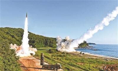 韩美联合导弹演练 这是对朝鲜试射导弹的回击吗?
