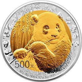 经典再现:熊猫金币发行35周年双金属币