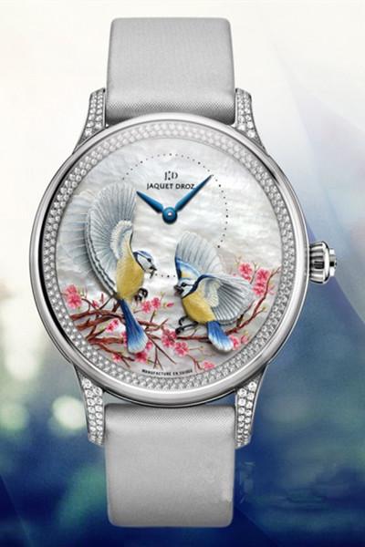 腕间的鸟语花香 雅克德罗时分小针盘四季系列J005024576