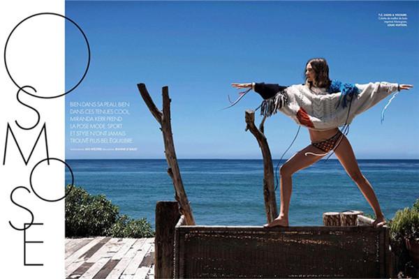 超模Miranda Kerr为《ELLE》杂志拍摄时尚大片