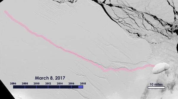 南极版图将改变 科学家们估计地球变暖导致了这个结果