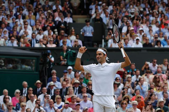 费德勒温网第八冠 大满贯个数增加到19个成就传奇