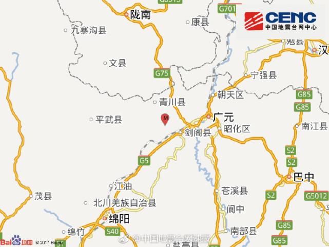 四川青川发生4.9级地震 是否有受损情况正在进一步核实中