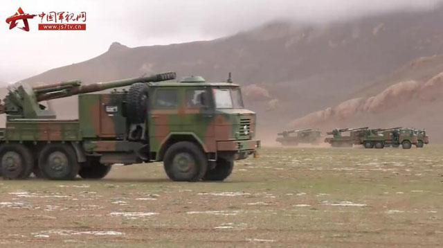 中国重炮山地部队演习 在西藏地区组织军演指向性相当明显