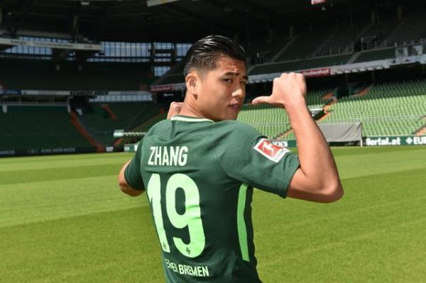 张玉宁打进加盟不来梅首球 国足第五位登陆德甲的球员