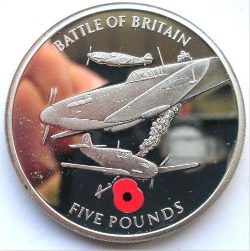 英国纪念二战纪念币 感叹和平来之不易