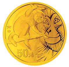 2016猴年1/10盎司金币 细腻表现出睿智机警形象