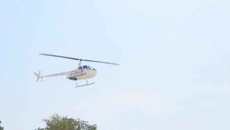 园江飞行服务中心罗宾逊R44I私人直升机首航圆满成功