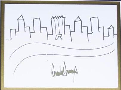 特朗普手绘画9千美元起拍