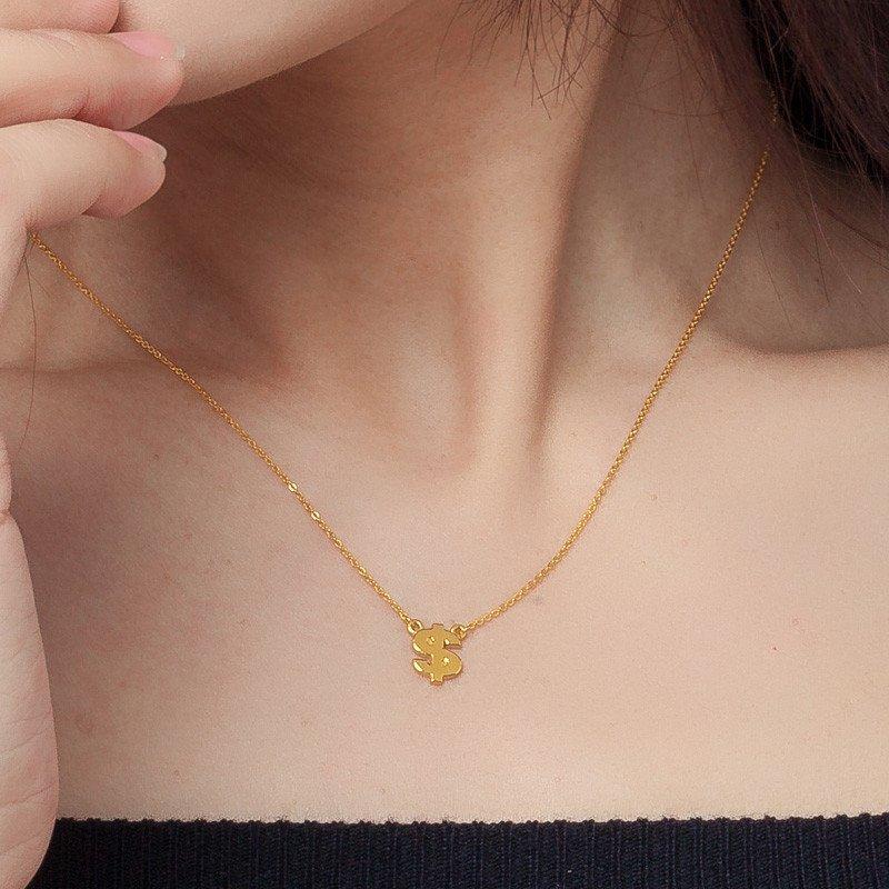黄金锁骨链