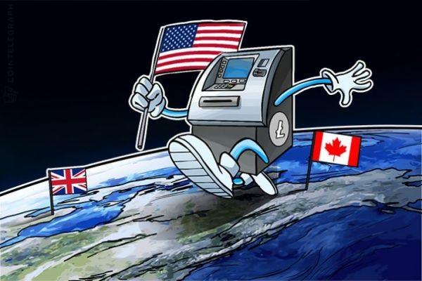 莱特币ATM在全球爆炸式增长 迈出美国走向世界