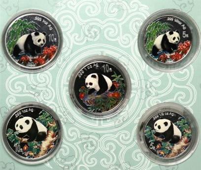 1997至1999版熊猫彩色纪念银币的收藏和投资价值