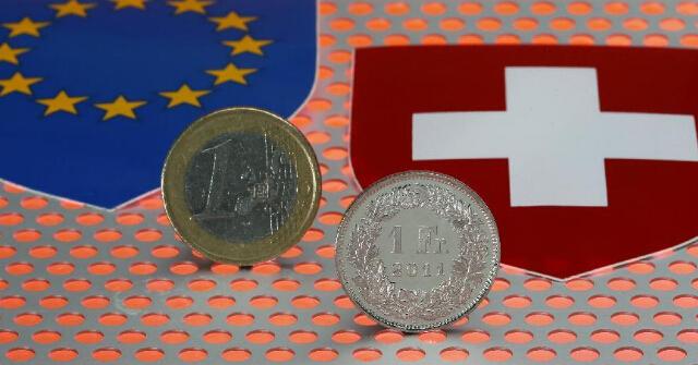 """欧元兑瑞郎飙涨!因瑞士央行放""""鸽""""?"""