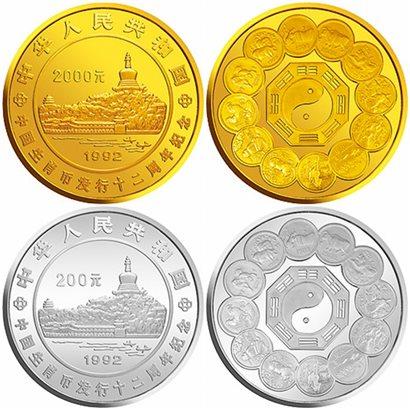 """中国""""币中币""""之生肖题材纪念币"""