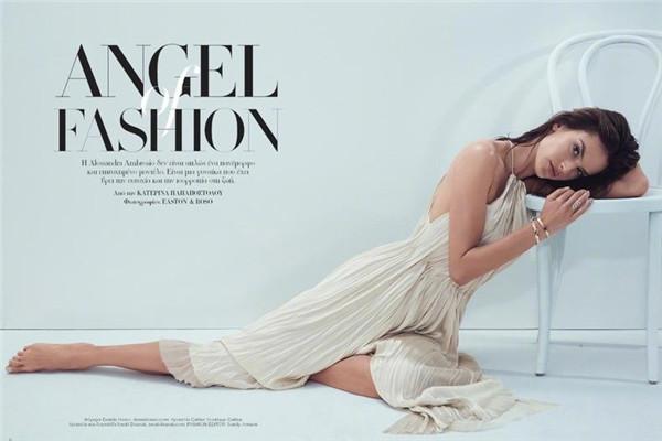 超模Alessandra Ambosio写真曝光 火辣身材演绎纯美天使