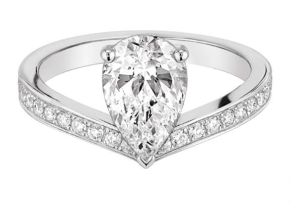 高贵典雅 尚美巴黎推出全新加冕•爱Aigrette单钻戒指