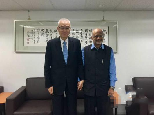 印度学者邀吴敦义访印 希望未来吴敦义不会忘记印度这位好朋友