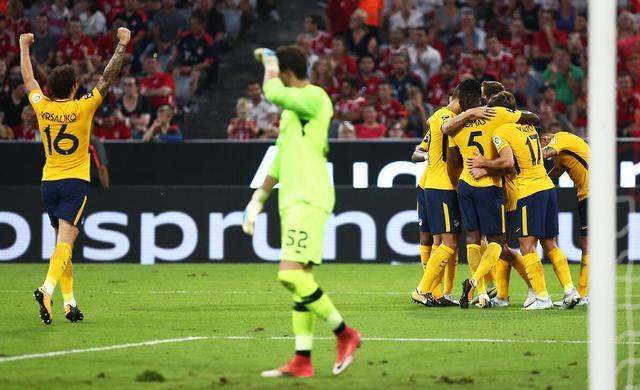 马竞1-1平利物浦 马竞以总分6-5获得2017奥迪杯冠军