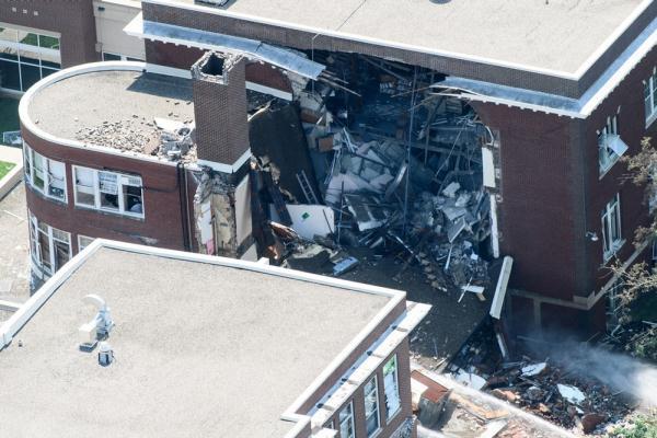 天然气爆炸最新消息:美国一所学校爆炸1亡9伤天然气爆炸引起