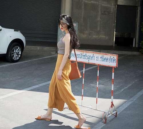 2017服装流行趋势示范 莫兰迪色系上身一秒变女神