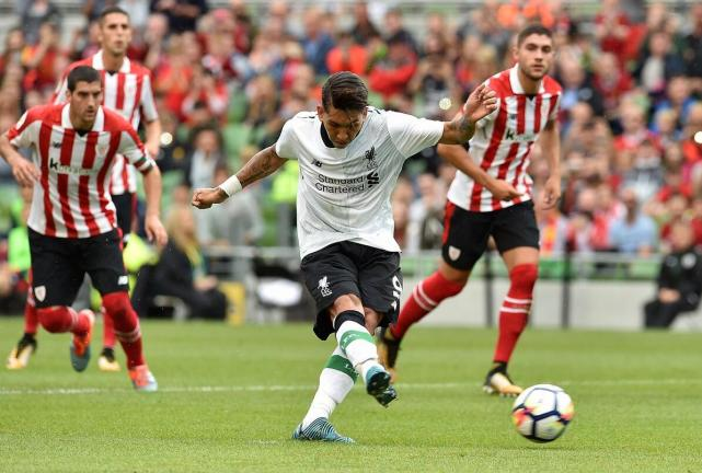 友谊赛-利物浦在爱尔兰都柏林3-1击败毕尔巴鄂