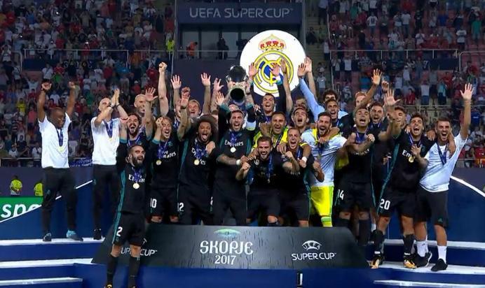 皇马再捧欧超杯一片欢腾 4:1击败尤文图斯实现卫冕!