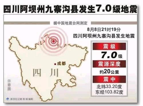 四川九寨沟地震最新消息 地震后游客带行李箱上街 四川保监局指挥救灾