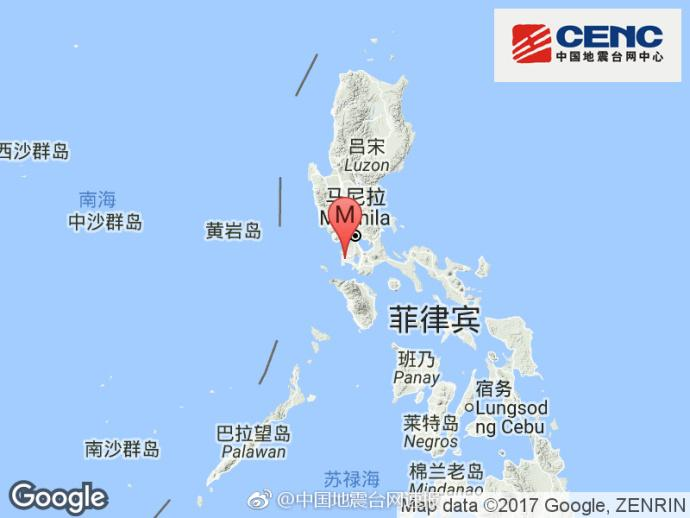菲律宾发生6.3级地震 震源深度180千米
