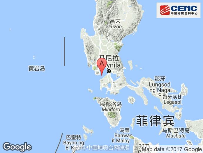 南海海域6.5级左右地震 地震导致菲律宾建筑物发生摇晃
